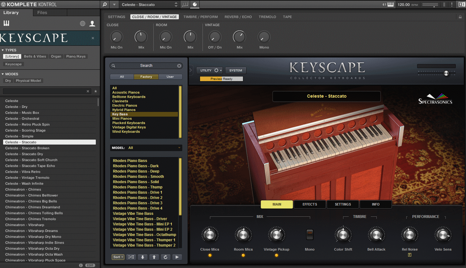 Keyscape PresetBrowser