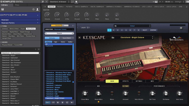 Keyscape PresetBrowserOmnisphere
